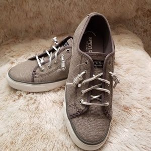 Sperry Top-side NWT Sliver/gray SO CUTE!